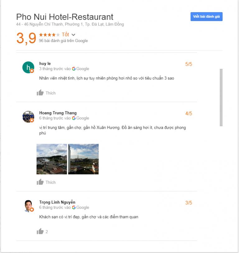 Đánh giá khách sạn Phố Núi Đà Lạt