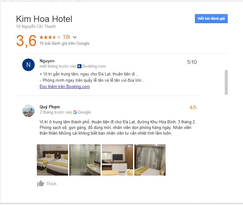 Đánh giá khách sạn Kim Hoa Đà Lạt