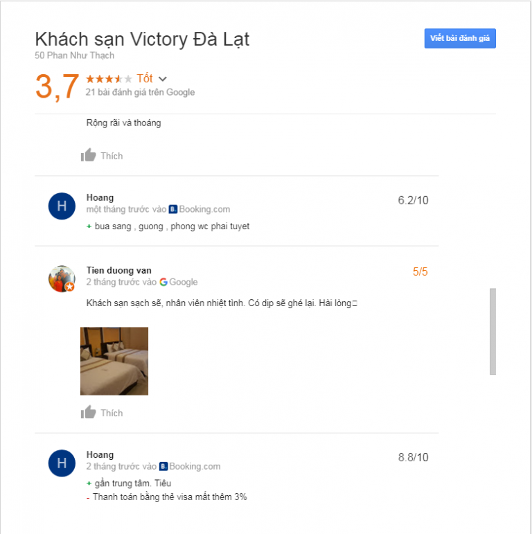 Đánh giá khách sạn Victory Đà Lạt