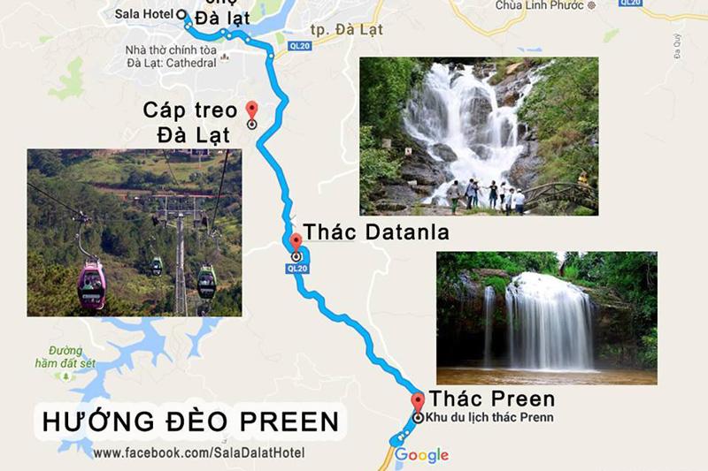 Đường đến thác Datanla Đà Lạt