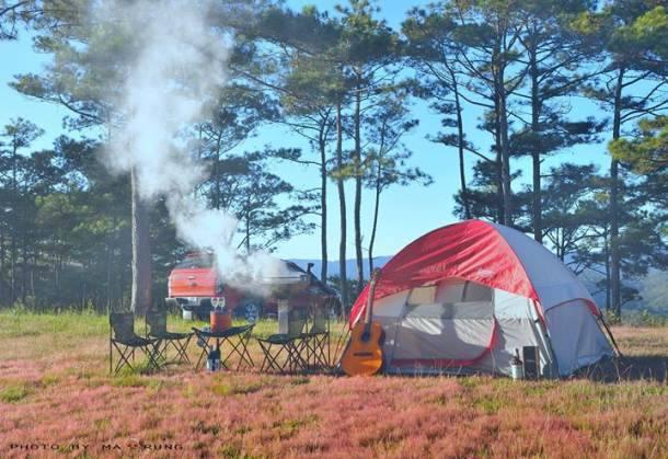 Cắm trại ở đồi Đa Phú