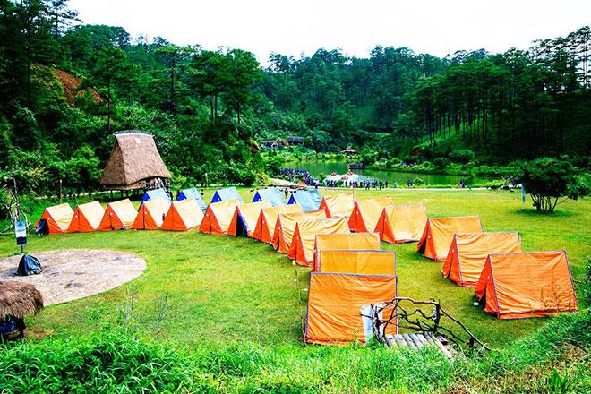 cắm trại ở hồ Tuyền Lâm Đà Lạt