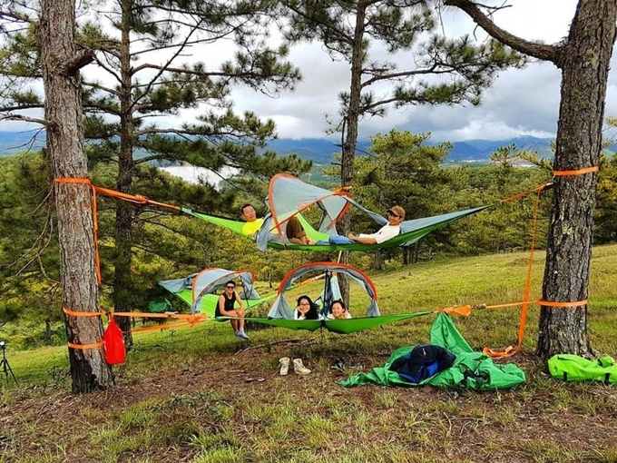Chỗ cắm trại ở Đà Lạt