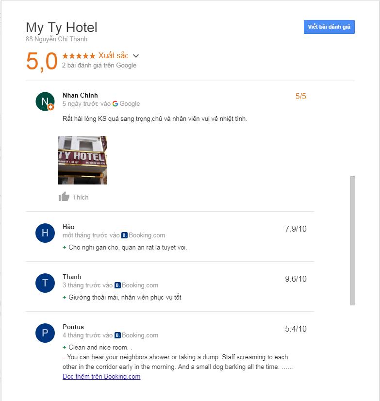 Đánh giá khách sạn My Ty Đà Lạt