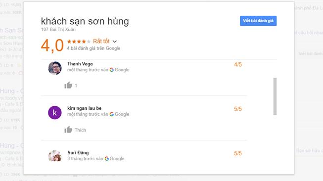 đánh giá khách sạn Sơn Hùng Đà Lạt