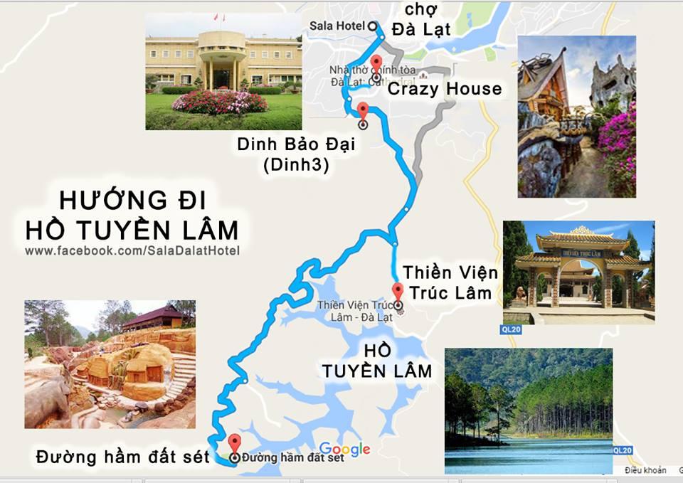 Đương đi đến hồ Tuyền Lâm Đà Lạt