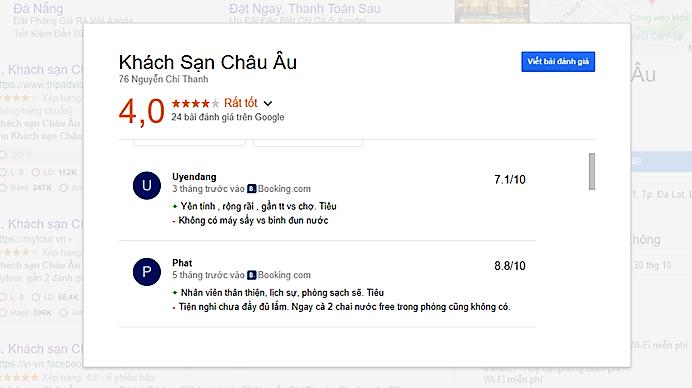 Review khách sạn Châu âu Đà Lạt