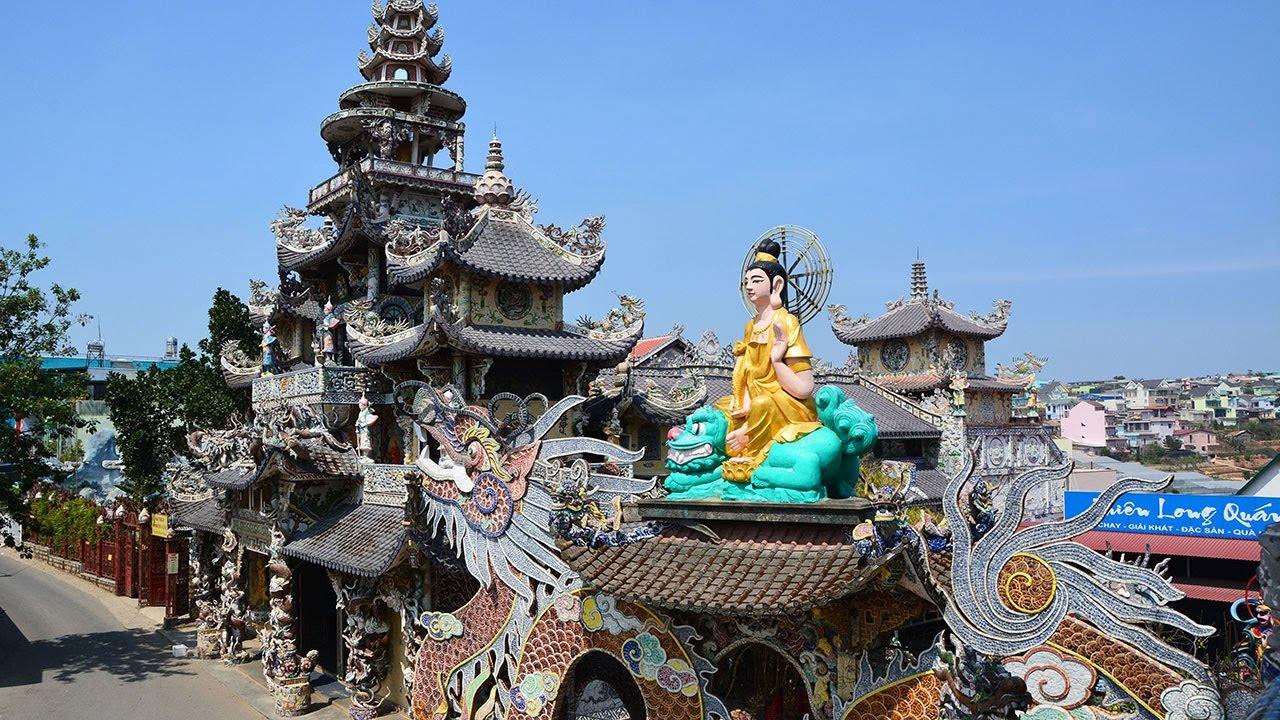 Tour langbiang - Chùa Linh Phước