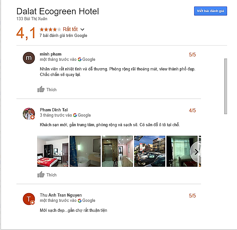 Đánh giá khách sạn Đà Lạt Ecogreen