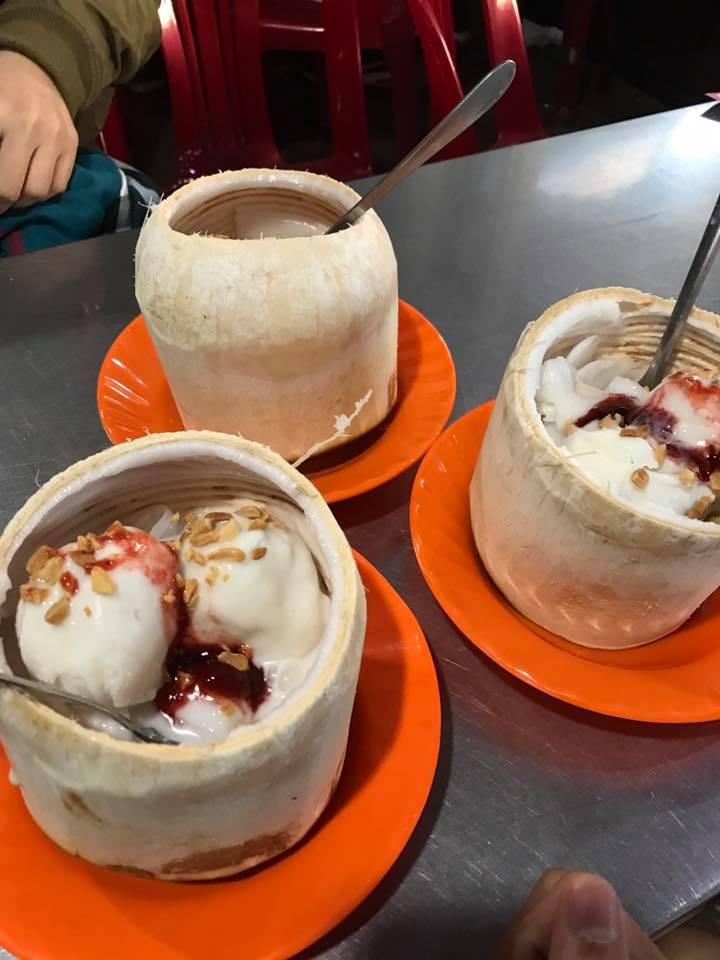 Quán kem ở Đà Lạt