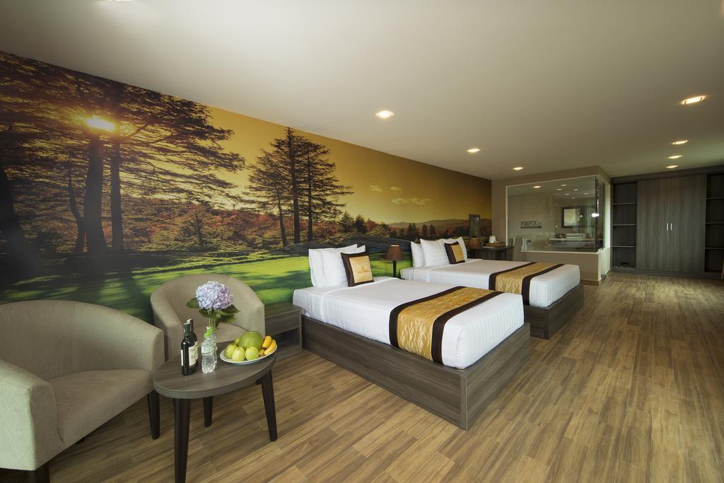 phòng deluxe 2 giường đơn dalat wonder resort