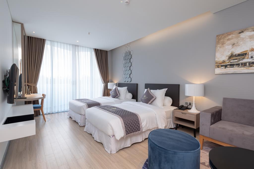 Phòng Deluxe 2 giường đơn khách sạn Golf Valley Đà Lạt