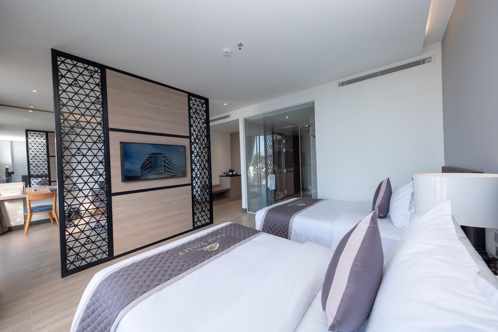 phòng premium deluxe 2 giường đơn khách sạn golf valley