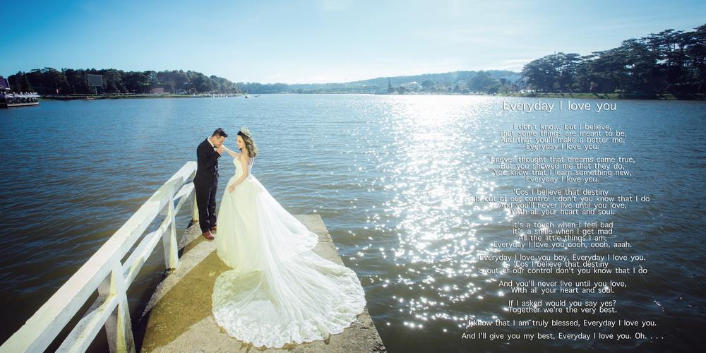 Chụp ảnh cưới ở hồ Xuân Hương Đà Lạt