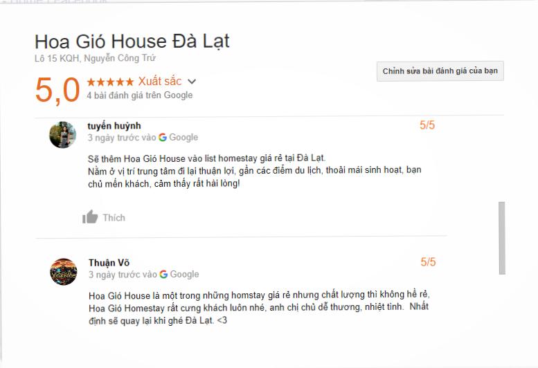 Review Hoa Gió House Đà Lạt