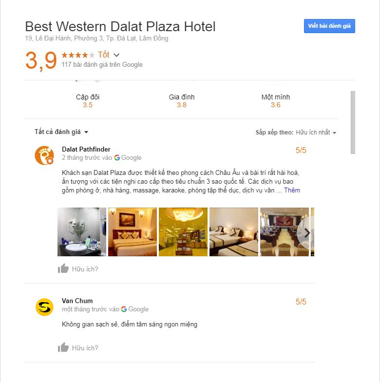 Review khách sạn dalat Plaza