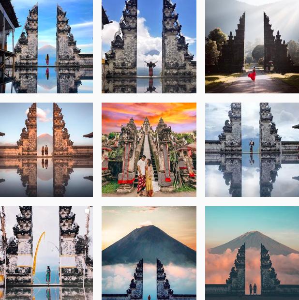 Cổng trời Bali ở đảo Bali indonesia