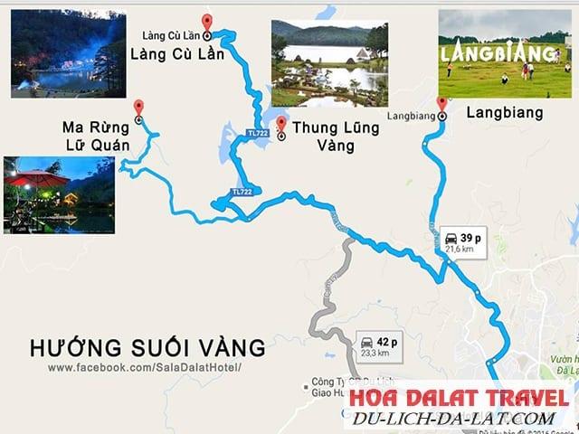 Bản đồ đường đi Ma Rừng Lữ Quán