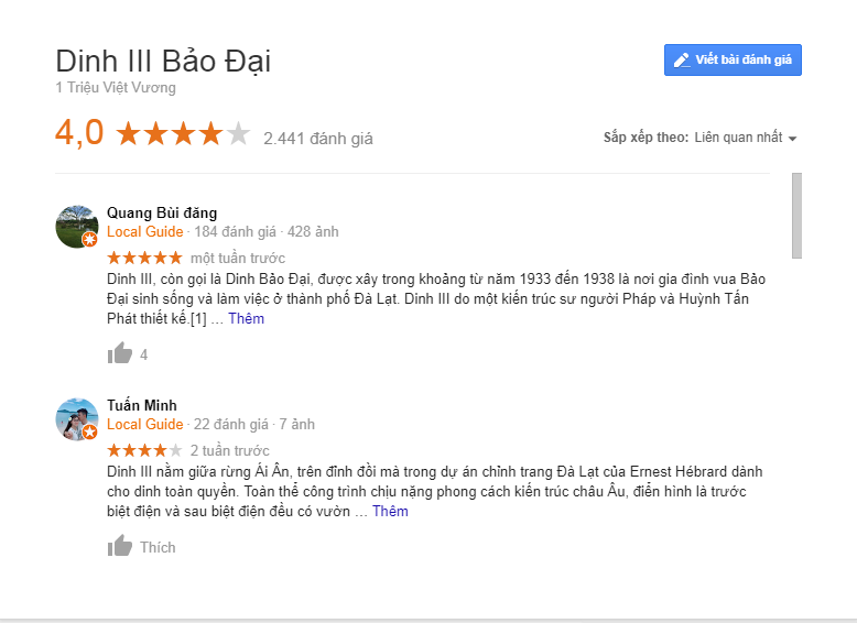 Review dinh 3 Đà Lạt