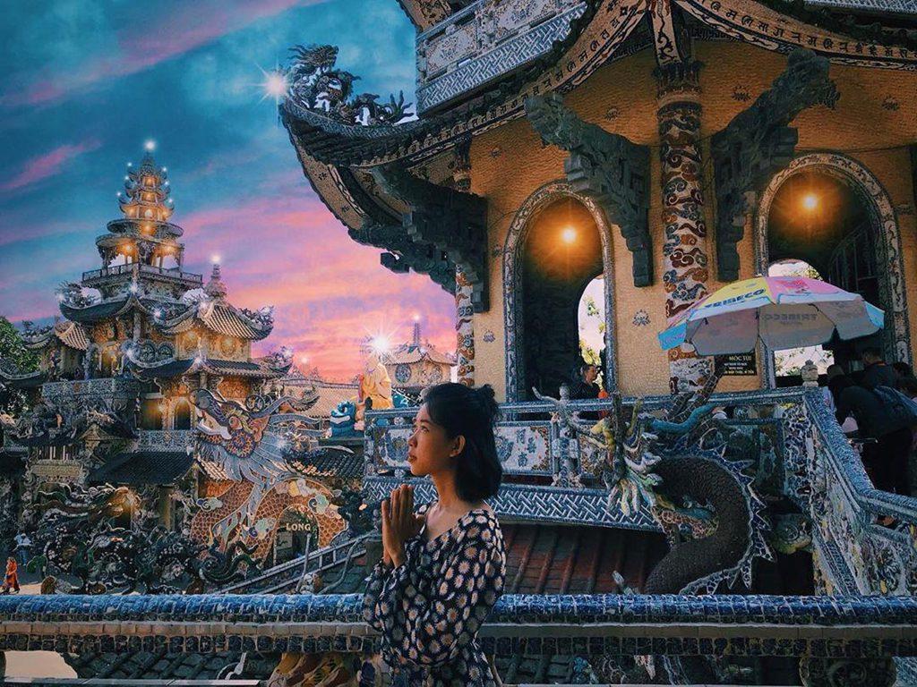 Tham quan chùa ở Đà Lạt