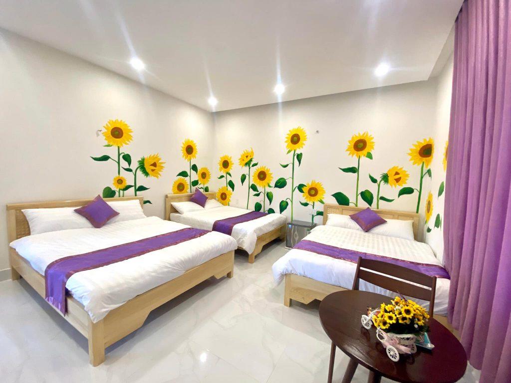 Phòng 3 giường ở homestay binly Đà Lạt