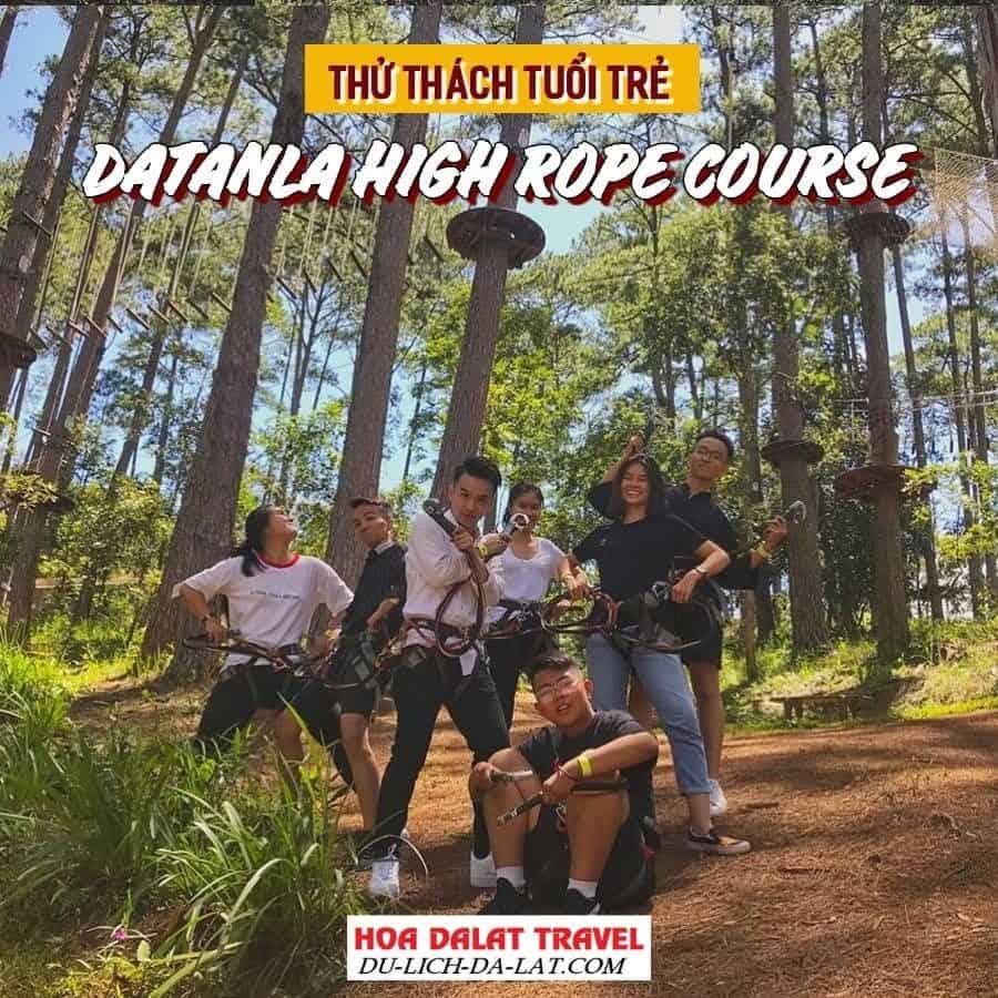 Hành trình đu dây trên cao ở thác Dantala