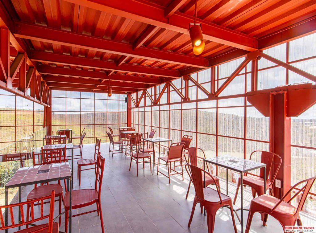 Không gian quán cafe Cầu Đất Farm