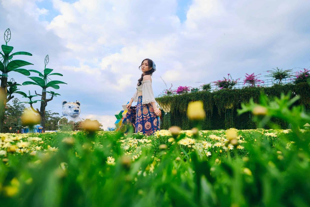 vườn hoa fresh Đà Lạt