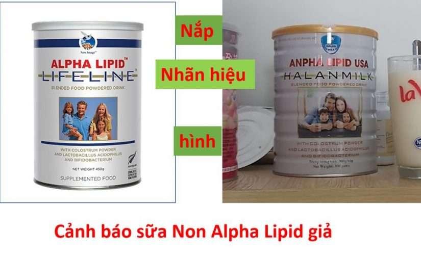 cảnh báo sữa non alpha lipid gía rẻ