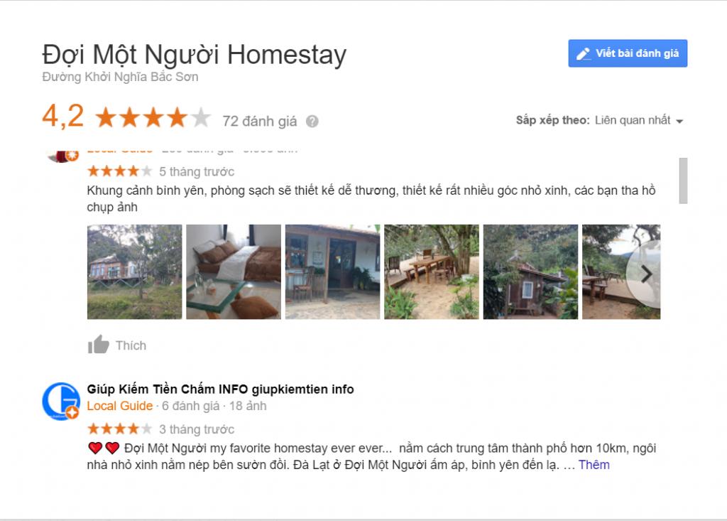 review homestay đợi một người