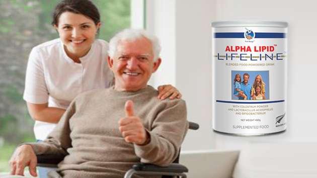 sữa non alpha lipid tốt cho người già