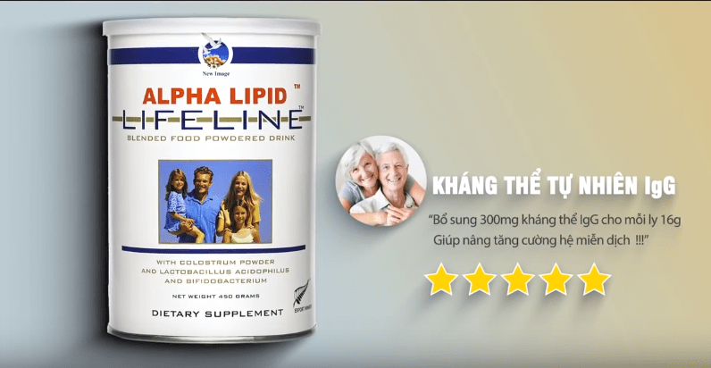 tác dụng của sữa non alpha lipid