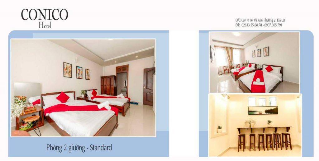 Phòng đôi khách sạn Conico Đà Lạt