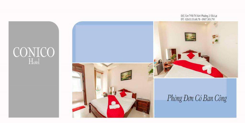 Phòng đơn khách sạn conico