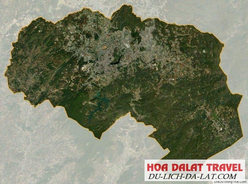 Vị trí thành phố Đà Lạt
