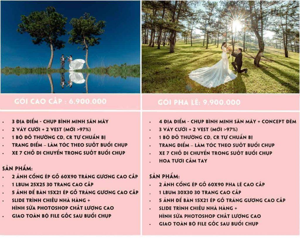 chụp ảnh cưới giá rẻ Đà Lạt