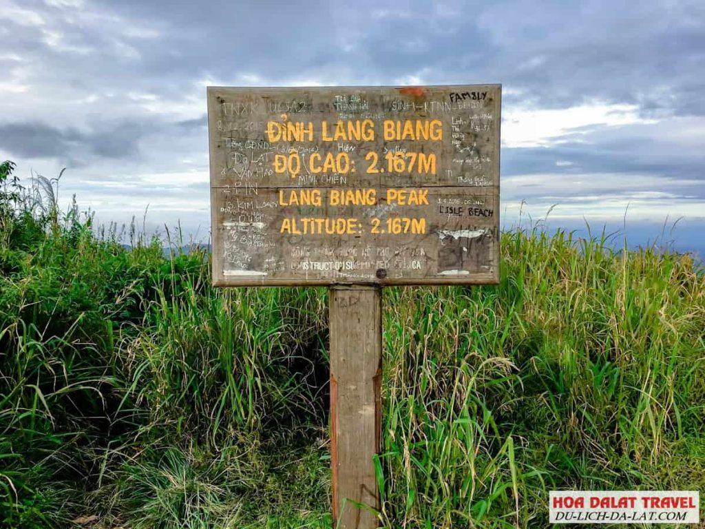 Điểm cao nhất ở Langbiang