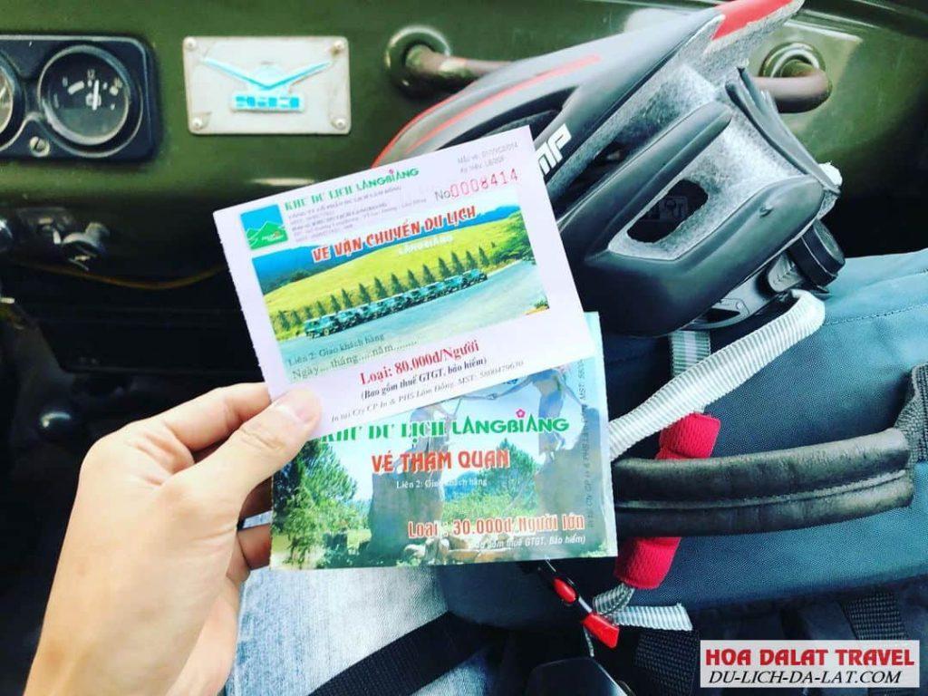 giá vé tham quan khu du lịch Langbiang