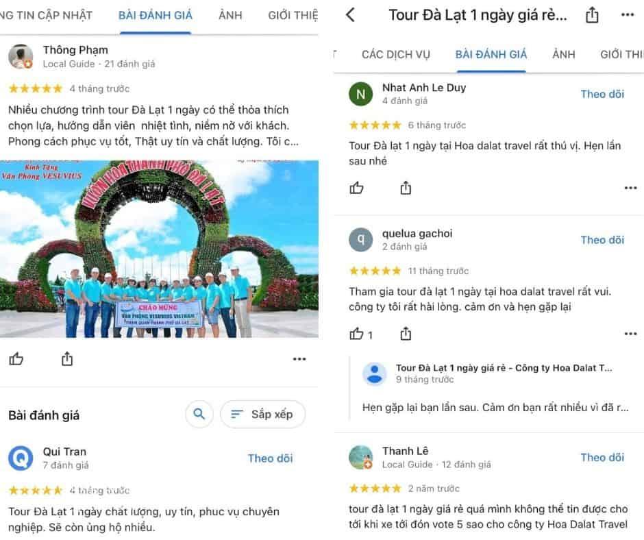 Review tour Đà Lạt 1 ngày