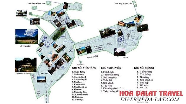 Bản đồ Thiền Viện Trúc Lâm Đà Lạt