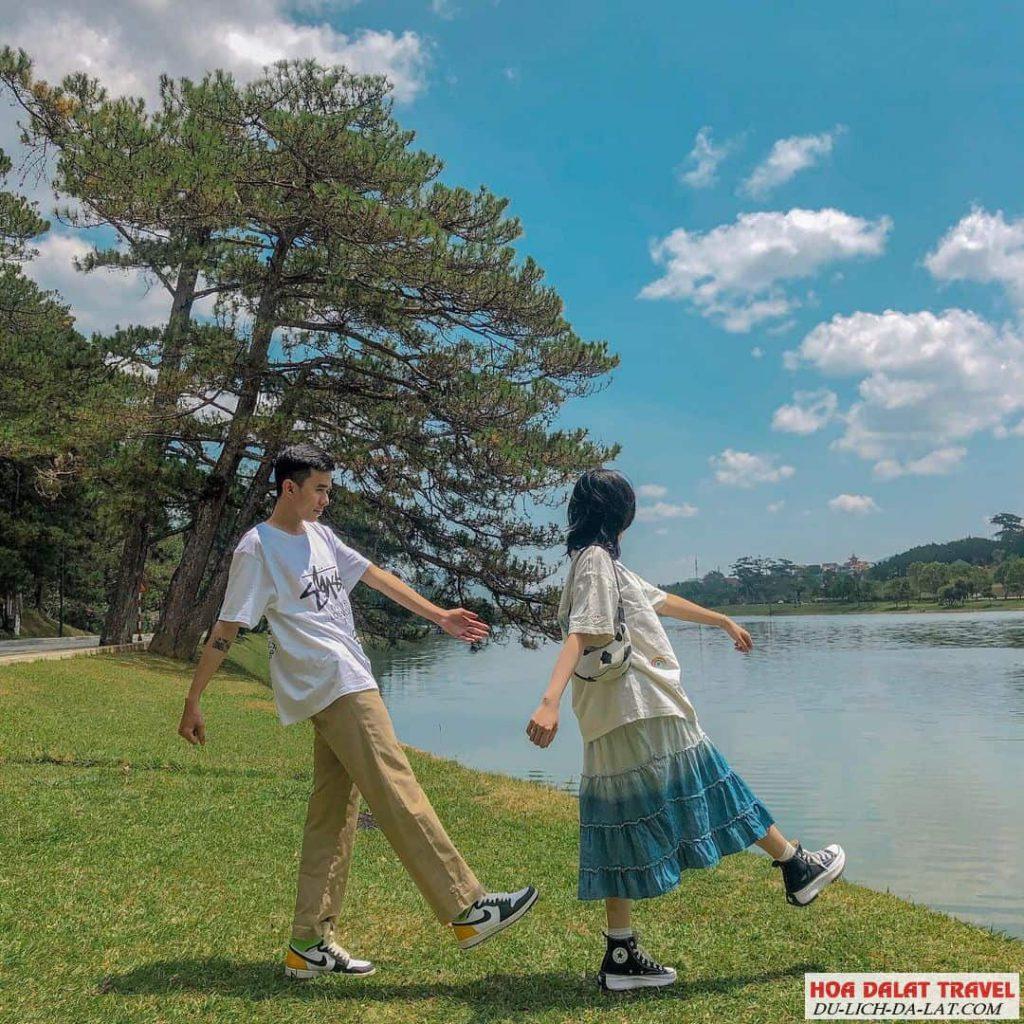 Hình ảnh hồ Xuân Hương - checkin