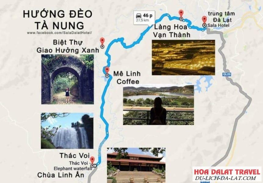 Hướng dẫn đường đi Mê Linh Coffee Đà Lạt