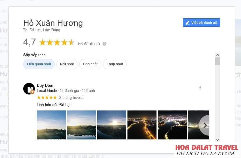 Review hồ Xuân Hương Đà Lạt