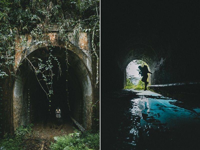 hình ảnh đường hầm xe lửa Đà Lạt