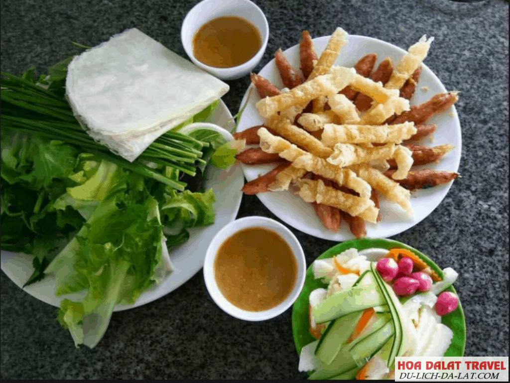 Các món ăn trưa tại Đà Lạt