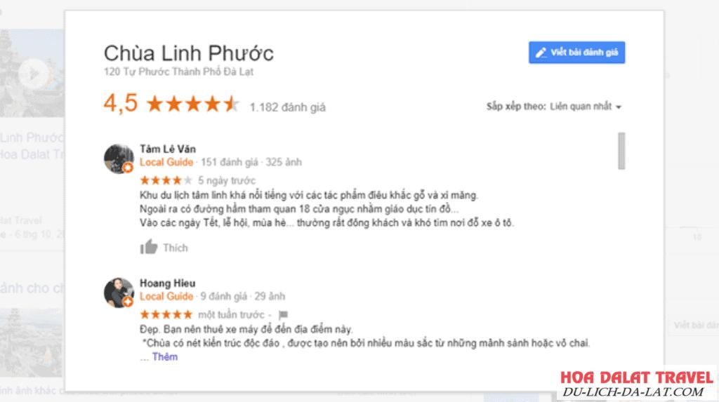 Chùa Linh Phước Đà Lạt review