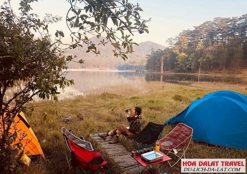 Hình ảnh về hồ Tuyền Lâm Đà Lạt- cắm trại bên hồ