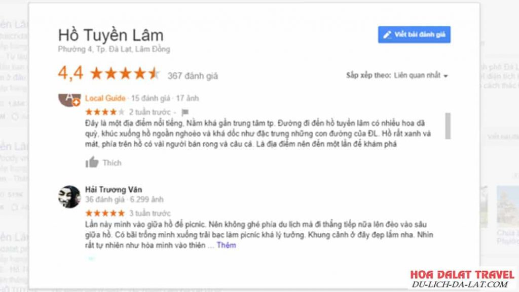 Hồ Tuyền Lâm Review