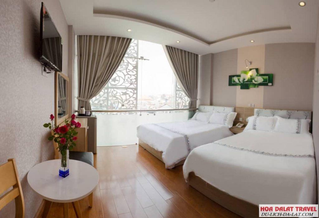 Khách sạn Pansy Đà Lạt- phòng ngủ