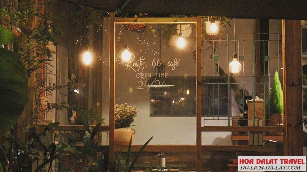 Thường thức cafe đêm Đà Lạt